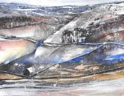 First Snow, Bowland Fells. Watercolour. 21 x 29 cm