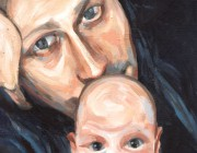 Rainer and Delian. Acrylic on board. 2013