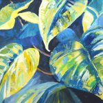 Leaves, Butterfly House. Acrylic on paper.
