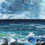 Hebridean Sea #2, December. Acrylic