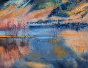 'Ullswater, November'. Oil on canvas, 24 x 34 cm