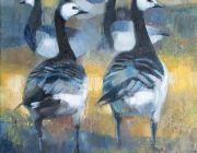 Barnacle Geese. Oil on canvas, 30 x 40 cm.