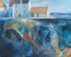 Fishing Nets, Pittenweem Harbour. Oil on canvas, 50 x 40 cm.