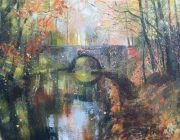 November, Lancaster Canal. Acrylic on paper. 42 x 34 cm