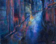Paris Street. Acrylic on canvas, 50 x 40 cm