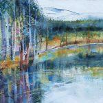 Uath Lochans, Glenfeshie. Watercolour, 32 x 27 cm.