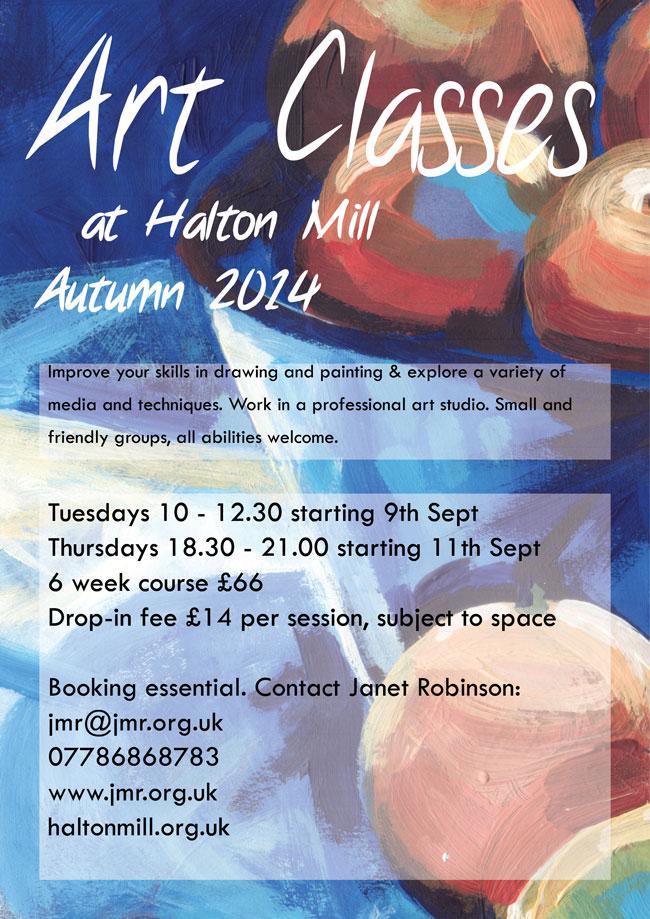 Art classes at Halton Mill, Autumn 2014