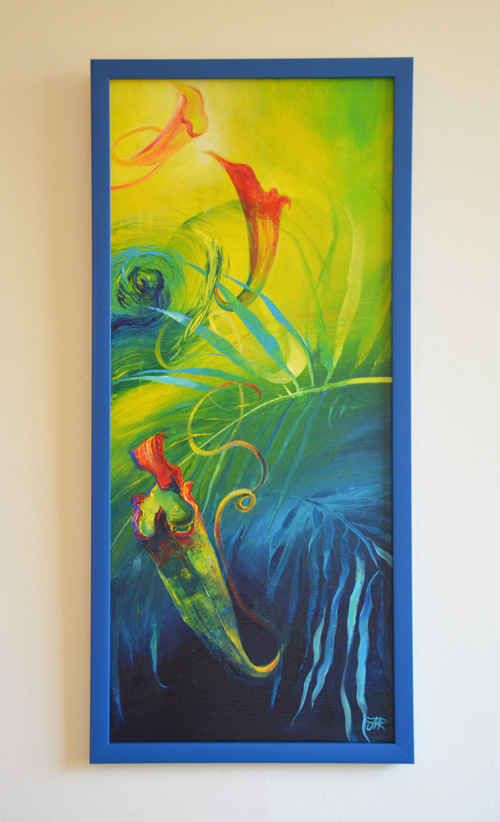'Loop the Loop' - Madagascan pitcher plant. Acrylic on board, 2014