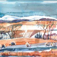 Winter landscape, NE Fife. Limited edition print.