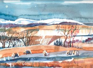 Winter landscape, NE Fife. Limited edition print.