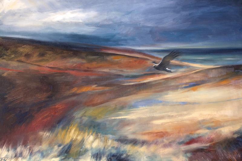 'The Last Skydancer', Oil on board, 91 x 66 cm