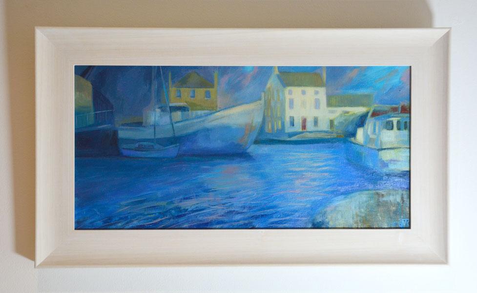 Glasson Dock, Winter Afternoon. Framed