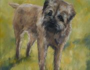 Oil portrait of a terrier