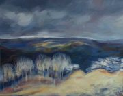 Ash Trees, Hutton Roof. Oil on canvas, 62 x 52 cm