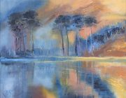 Buttermere Autumn. Oil on canvas, 20 x 25 cm