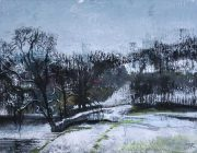 Spring Snow. Mixed media. 40 x 30 cm