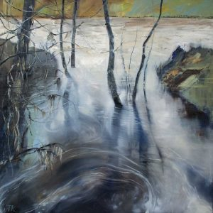 High Water Shortest Day. Oil on canvas. 61 x 61 cm.