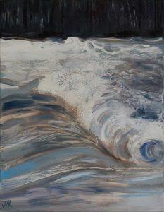 Lune Rapids. Oil on canvas. 30 x 40 cm.