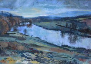 Lune Valley, November. Mixed media. 40 x 30 cm.