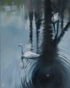 May Swans. Oil on canvas. 40 x 50 cm.