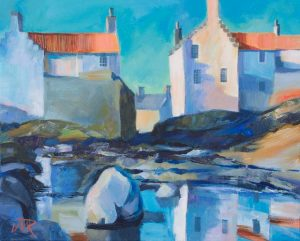 'Midwinter, Pittenweem', Acrylic on canvas, 51 x 41 cm
