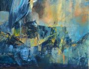 September Heron. Acrylic on canvas, 30 x 40 cm