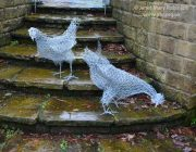 'Chickenwire Chickens' Up-cycled wire sculptures