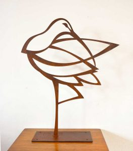 Curlew sculpture, 5 mm steel, 49 x 60 cm