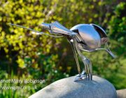 'Spoonbill 1' Up-cycled cutlery sculpture