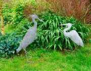 Wire Heron sculptures