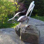 cutlery bird sculpture