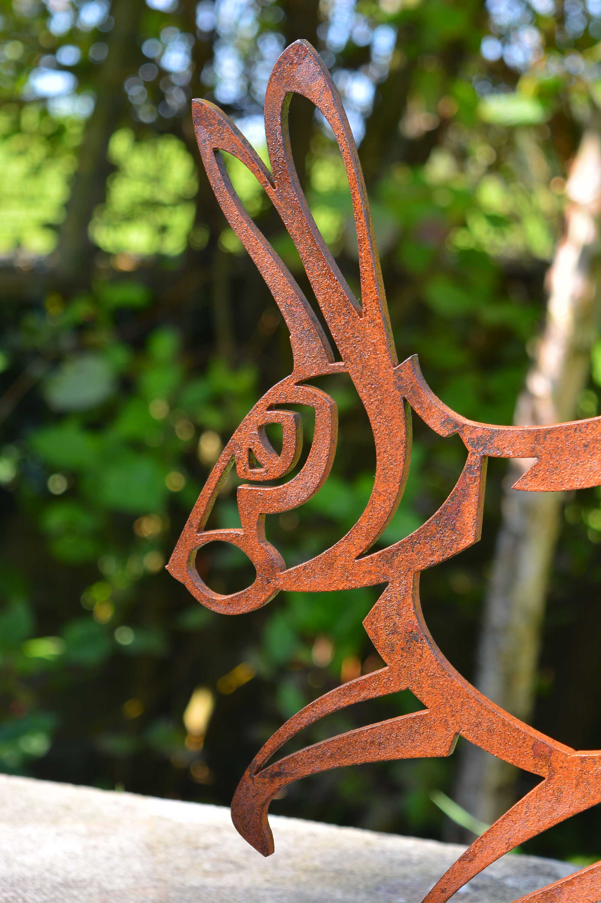 Hare sculpture head detail
