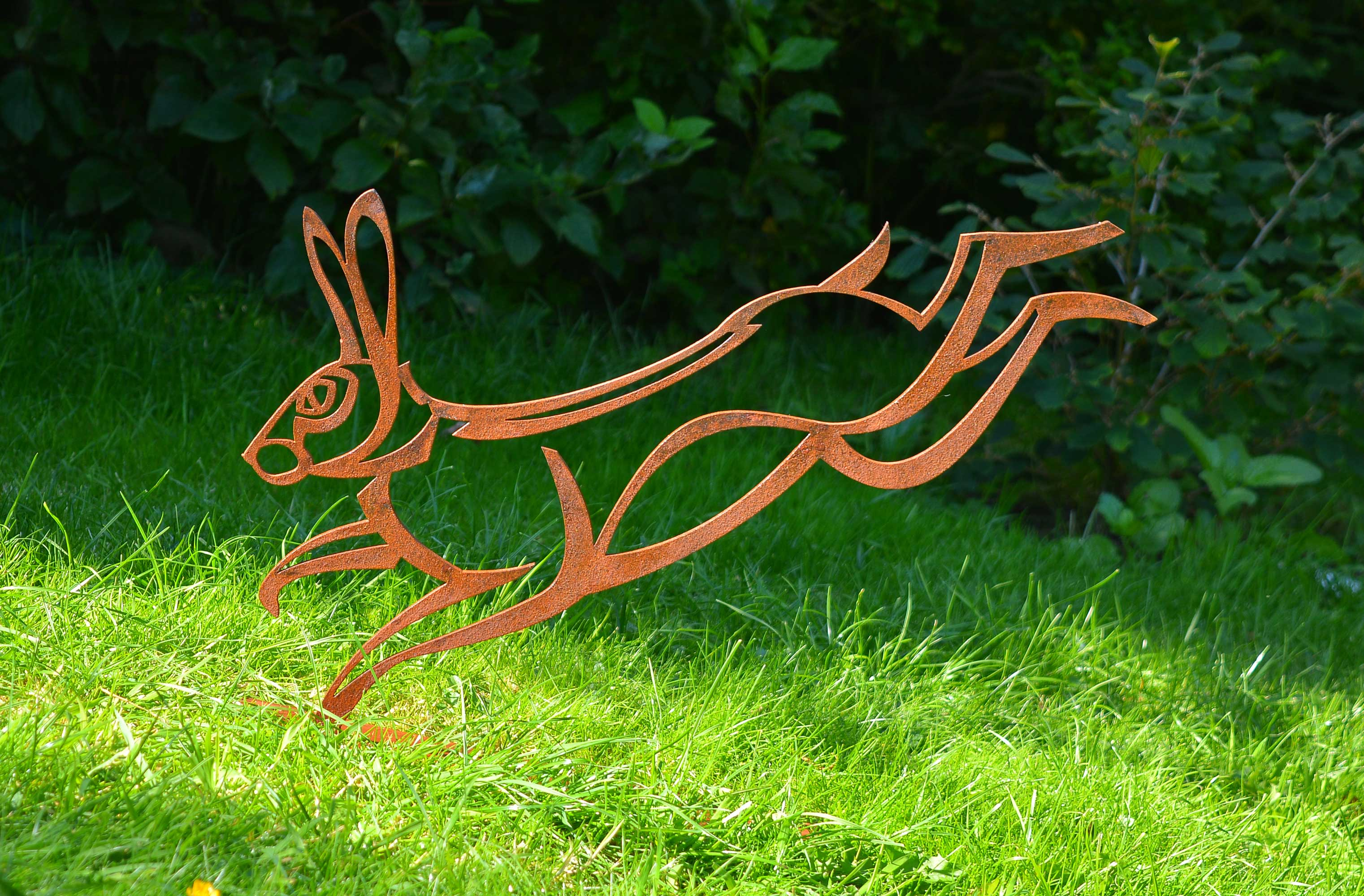 steel hare sculpture